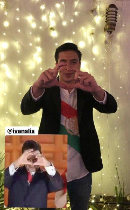 Chica celebra fiesta de cumpleaños con temática de memes y stickers; Enrique Peña Nieto haciendo corazón con las manos