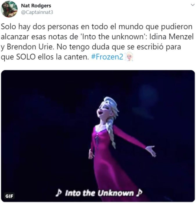 La canción de Into the Unknown de Frozen 2 es la nueva Let it go; Elsa