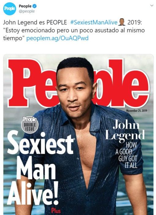 Anuncio de la revista Pople sobre el hombre sexi 2019