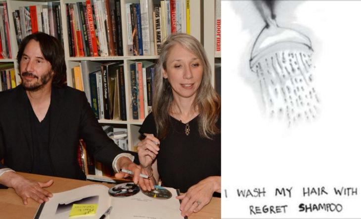 Keanu Reeves y su nueva novia, la ilustradora Alexandra Grant; libro Ode to happiness