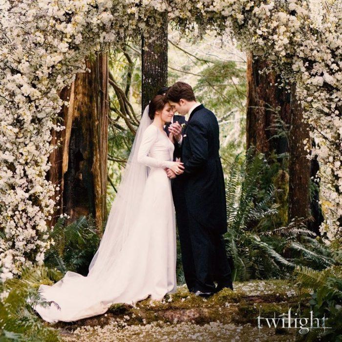 Escena de la película Crepúsculo el día de la boda de Bella y Edward