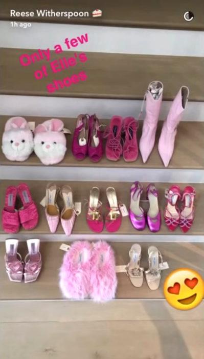 Reese Witherspoon se llevó todos los zapatos de Legalmente Rubia 2