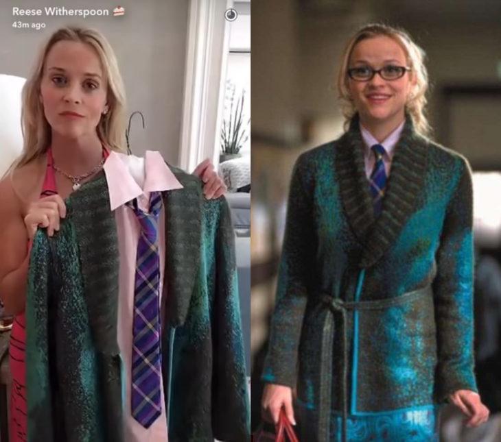 Reese Witherspoon se llevó todos los zapatos de Legalmente Rubia 2; traje verde de Elle Woods