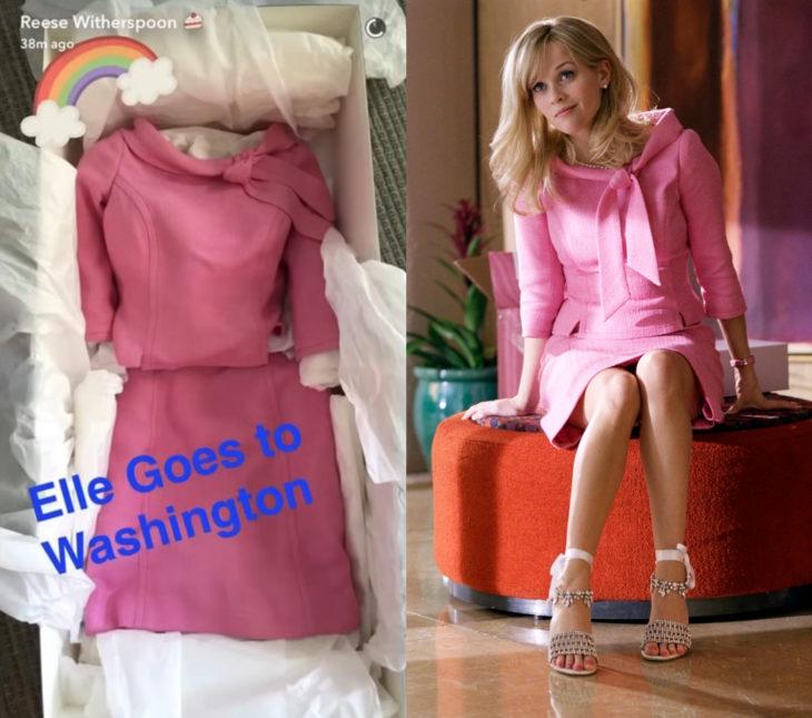 Reese Witherspoon se llevó todos los zapatos de Legalmente Rubia 2; traje rosa de Elle Woods
