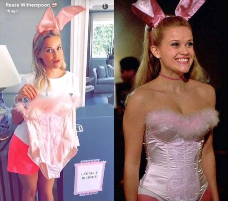 Reese Witherspoon se llevó todos los zapatos de Legalmente Rubia 2; disfraz de conejita de Halloween de Elle Woods