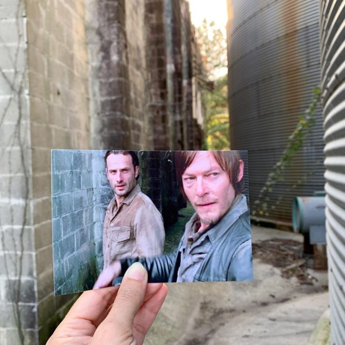 Andrea David viaja fotografiando locaciones de películas; The Walking dead, Rick Grimes, Daryl Dixon, Andrew Lincoln, Norman Reedus