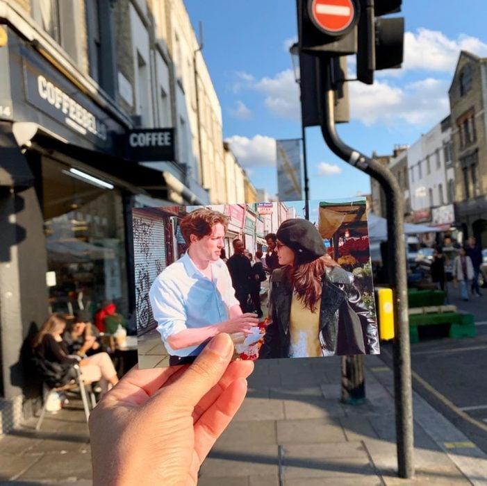 Andrea David viaja fotografiando locaciones de películas; Un lugar llamado Notting Hill; William, Anna Scott, Hugh Grant, Julia Roberts