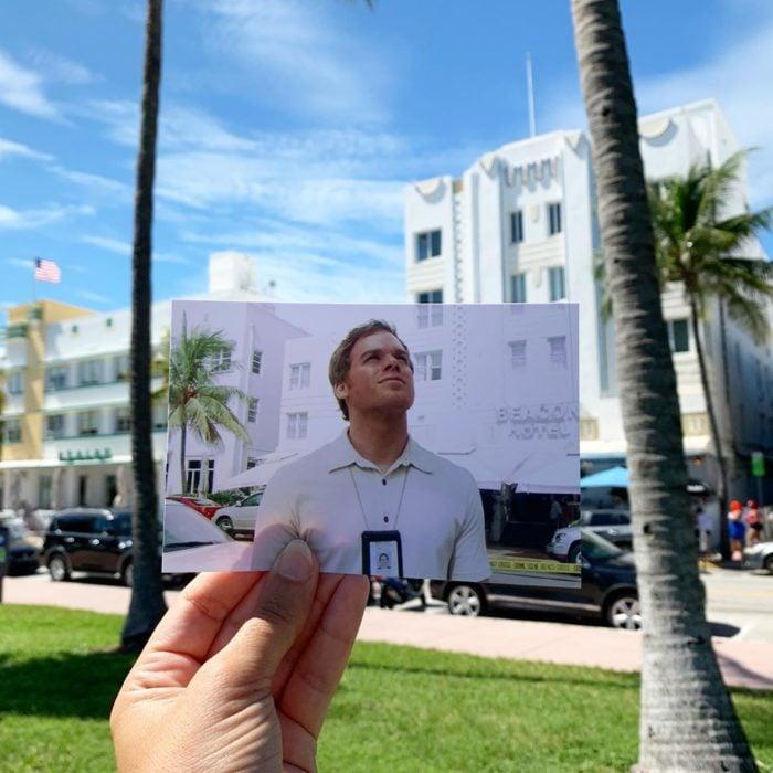 Andrea David viaja fotografiando locaciones de películas; Dexter Morgan, Michael C. Hall