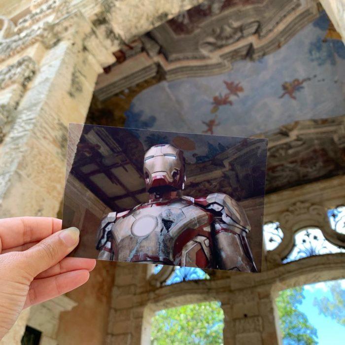 Andrea David viaja fotografiando locaciones de películas; Iron Man 3, Robert Downey Jr.