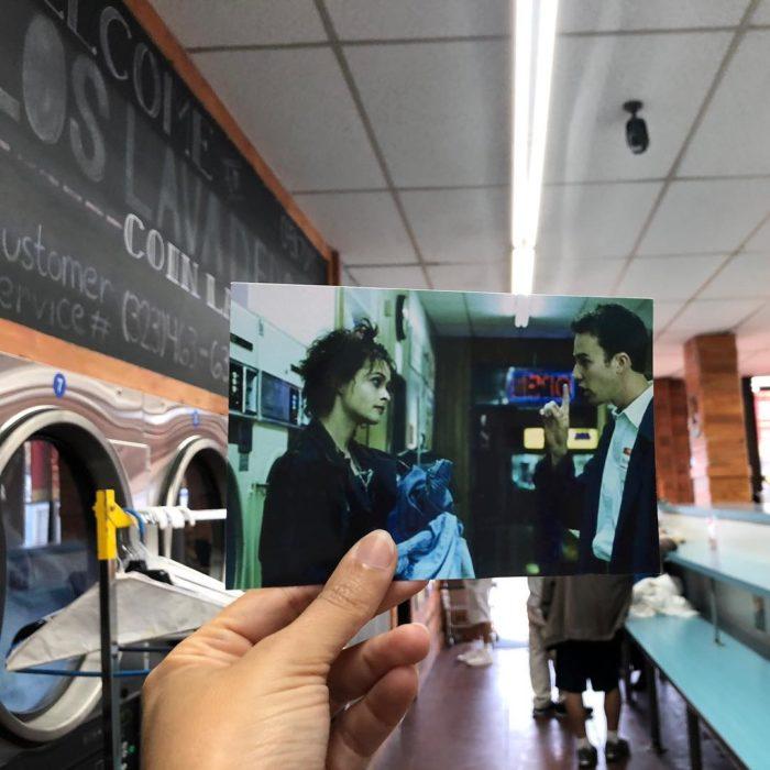 Andrea David viaja fotografiando locaciones de películas; El club de la pelea, Edward Norton, Helena Bonham Carter, Marla Singer