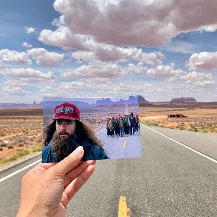 Andrea David viaja fotografiando locaciones de películas; Forrest Gump, Tom Hanks