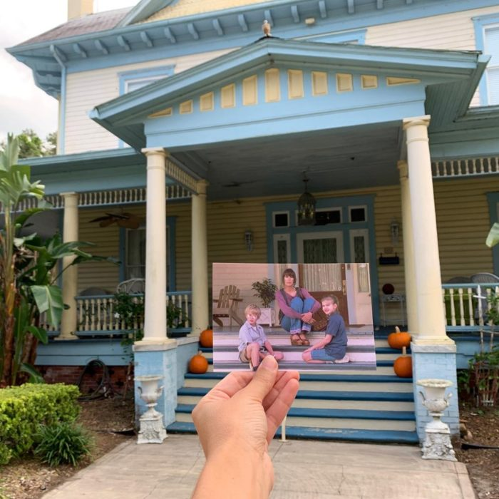 Andrea David viaja fotografiando locaciones de películas; Mi primer beso, Vada, Thomas, Anna Chlumsky y Macaulay Culkin