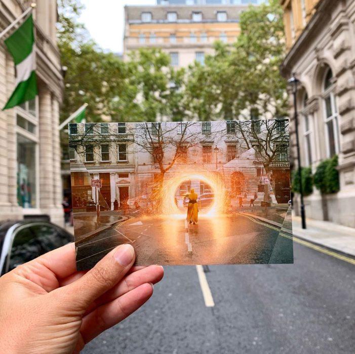 Andrea David viaja fotografiando locaciones de películas; Doctor Strange