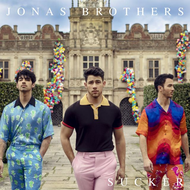 Portada del disco de los Jonas Brothers llamada Sucker