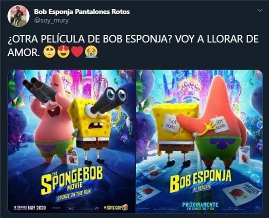 Tuit sobre la película Sponge Bob On The Run