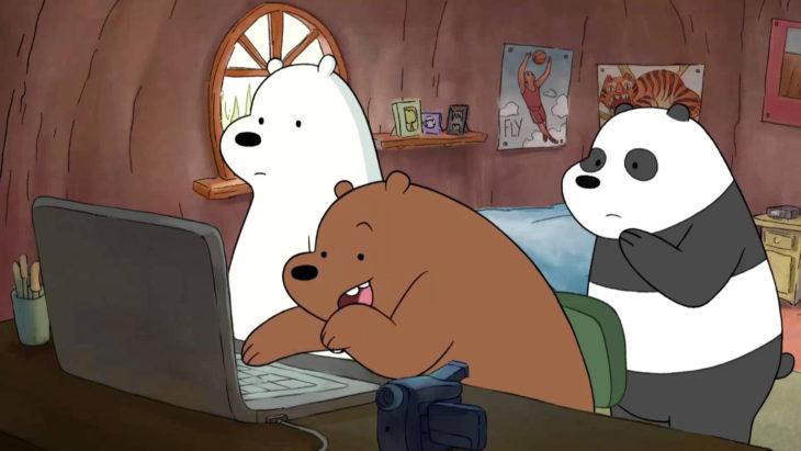 Estrenos de Netflix en diciembre, caricatura Escandalosos, Polar, Panda y Pardo