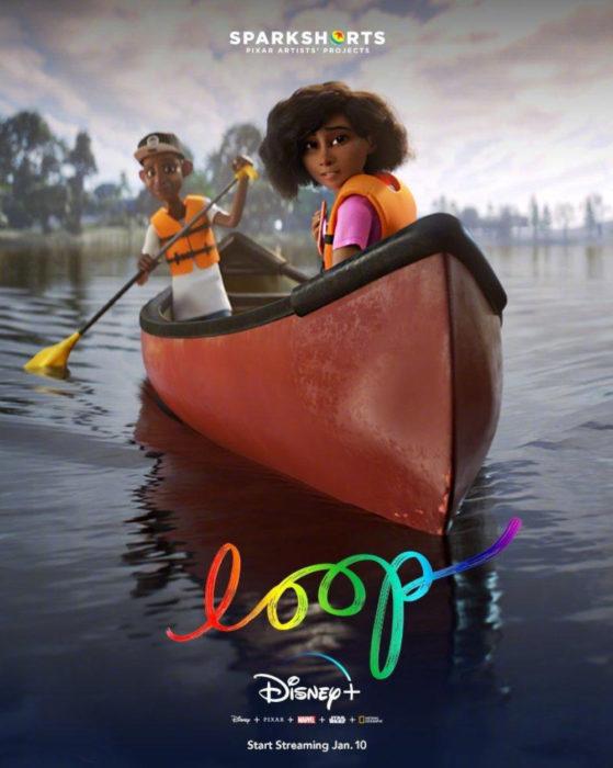 Loop, cortometraje de Disney-Pixar que habla sobre autismo; niña con su papá en un bote de remos