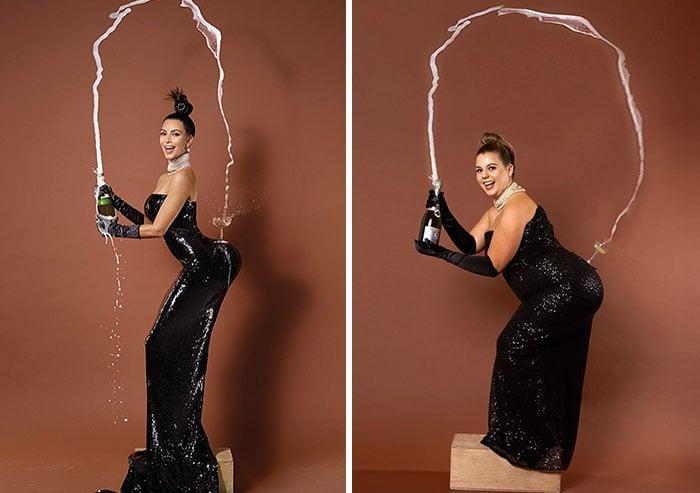 Sierra Schultzzie como Kim Kardashian
