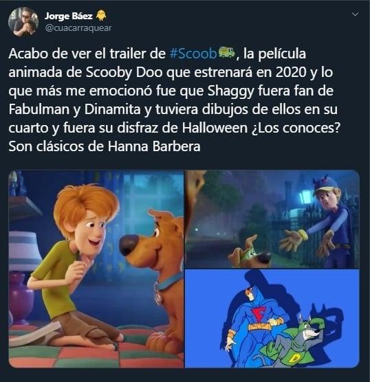 Tuit sobre la nueva película de Scooby Doo