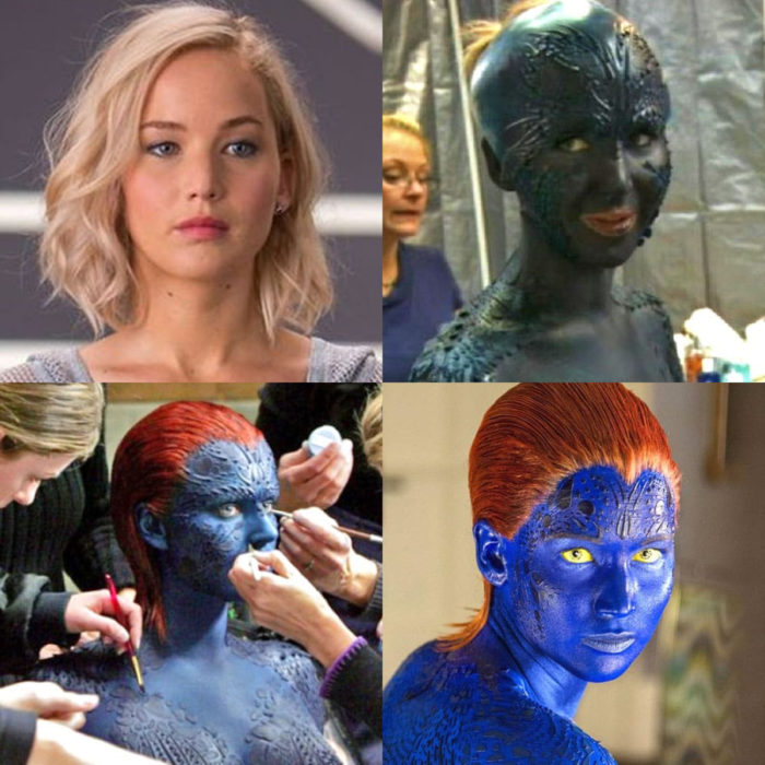 Transformaciones de actores para el cine; Jennifer Lawrence, Mystique, X-Men