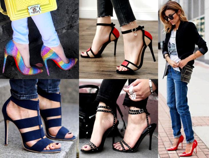 Outfits con zapatos para cada día de la semana; stilettos