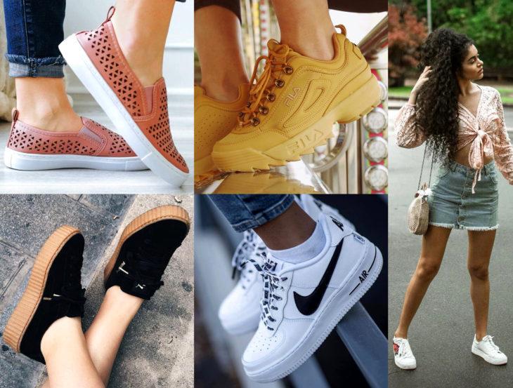 Outfits con zapatos para cada día de la semana; tenis