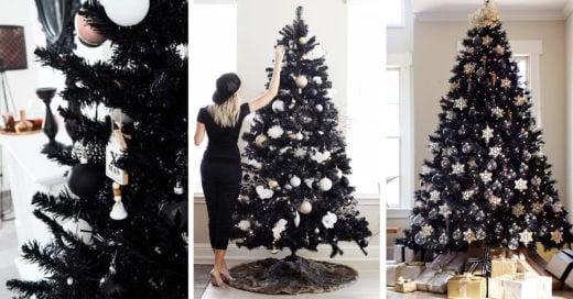15 Pinitos negros para las chicas dark que aman la Navidad