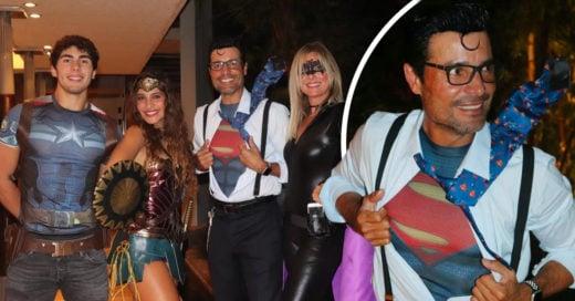 Chayanne se disfrazó de Superman en Halloween; su poder es mover las caderas con ritmo
