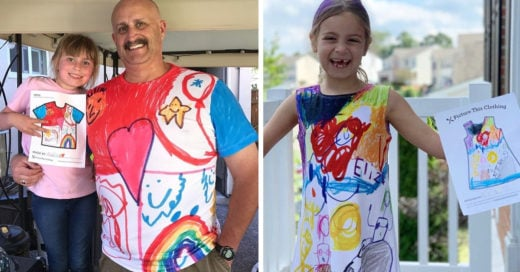 Tienda convierte los dibujos de niños en diseños de ropa
