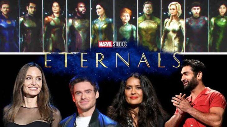Elenco de la película The Eternals con Angelina Jolie, Slma Hayek