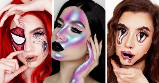 Estas hermanas hacen maquillaje de fantasía de manera alucinante