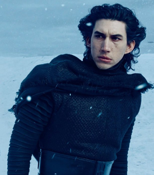 Actor Adam Driver como Kylo Ren de Star Wars