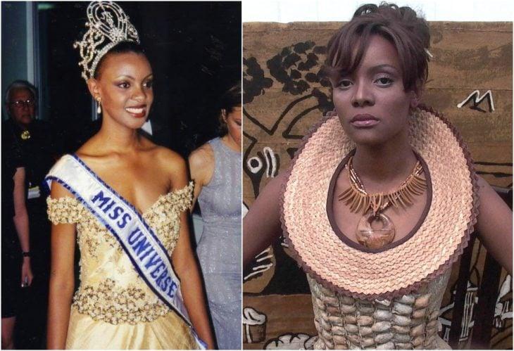 Mpule Kwelagobe Miss Universo antes y ahora