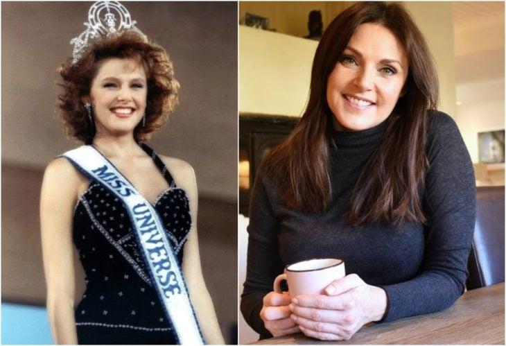 Mona Grudt Miss Universo antes y ahora