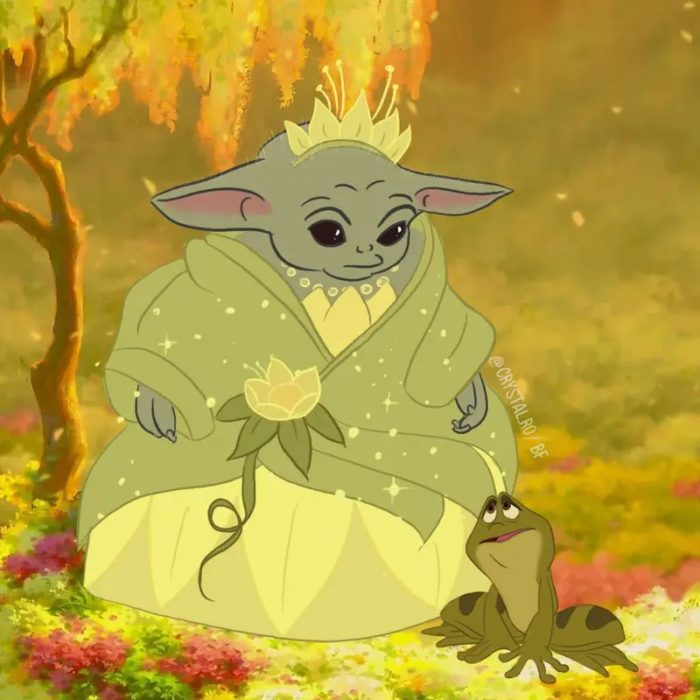 Bbé Yoda como Tiana, Disney