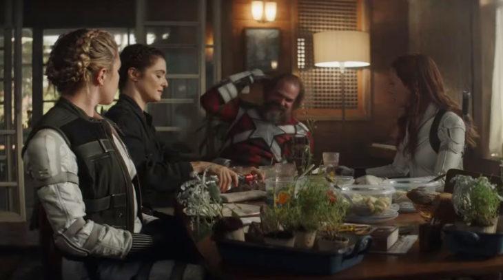 Tráiler de Black Widow; Scarlett Johansson, Natasha Romanoff; David Harbour, Gurdián Rojo; Florence Pugh, Yelena Belova; Rachel Weisz, Melina Vostokoff