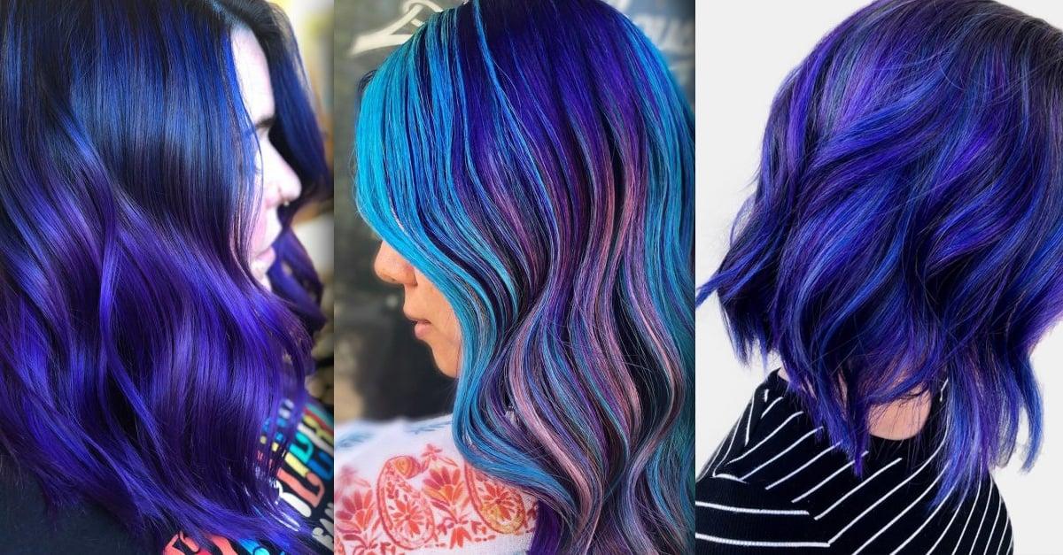 Blueberry es el tono que tu cabello merece, ¡brillarás al iniciar el año!