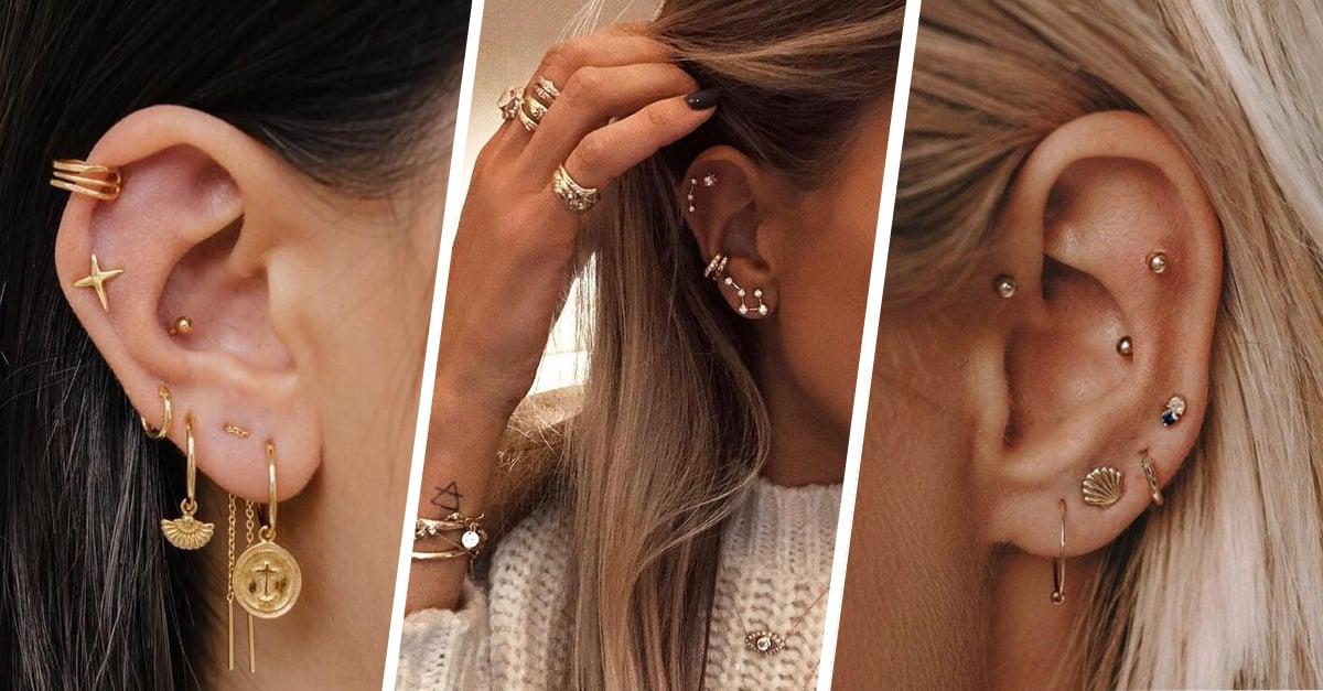 13 Pruebas de que el 'cluster piercing' es la tendencia del año