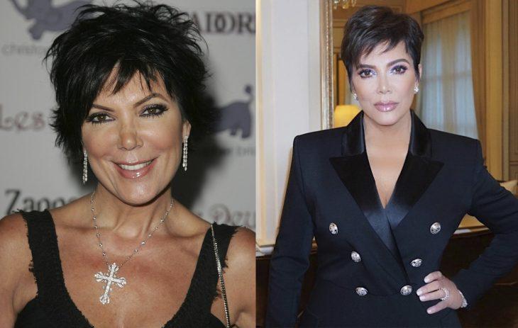 Comparación de Kris Jenner en el primer episodio de la serie vs actualmente
