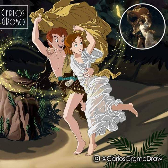 Dibujos de Carlos Gromo, Disney, Peter Pan