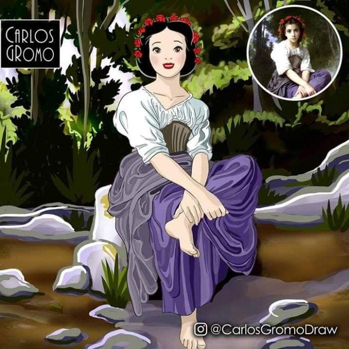 Dibujos de Carlos Gromo, Disney, Blancanieves