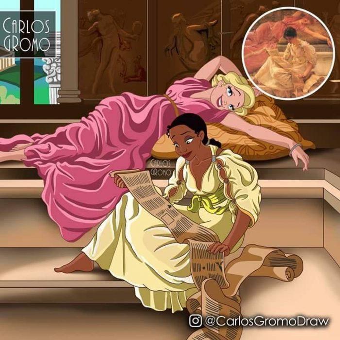 Dibujos de Carlos Gromo, Disney, La princesa y el sapo