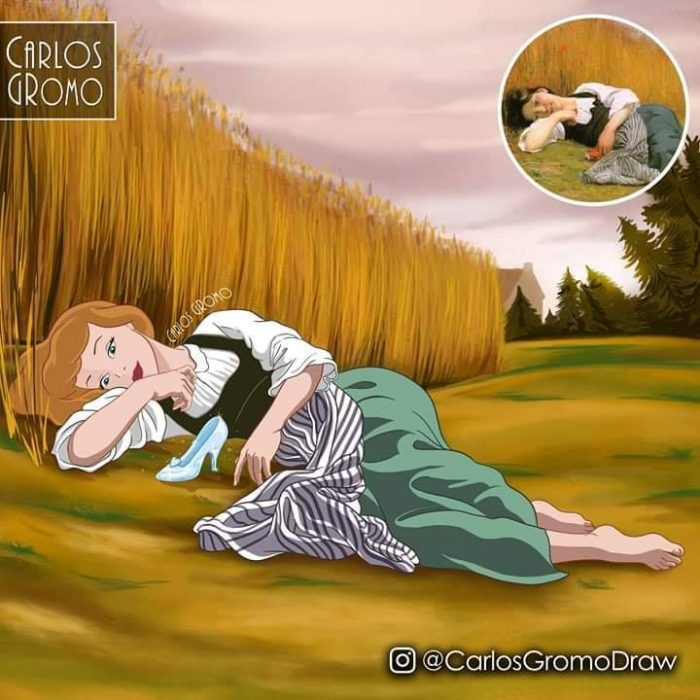 Dibujos de Carlos Gromo, Disney, Cenicienta