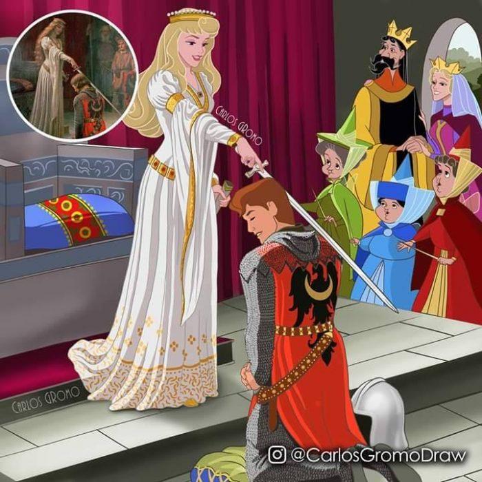 Dibujos de Carlos Gromo, Disney, La Bella durmiente
