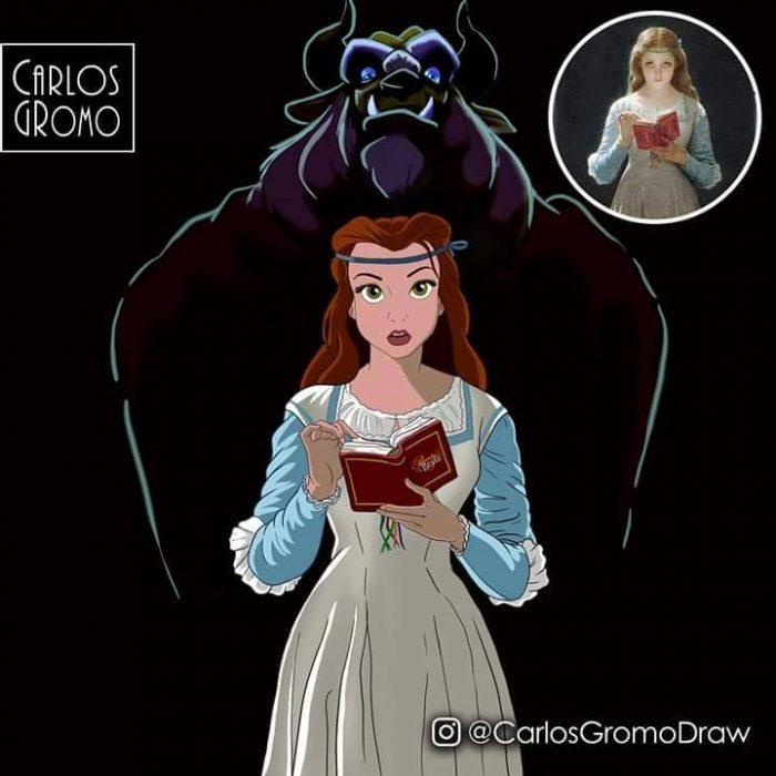 Dibujos de Carlos Gromo, Disney, La Bella y la bestia