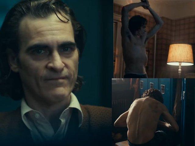 Joaquin Phoenix delgado en la película el guason