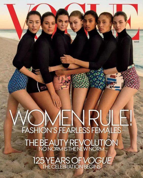 Portada de la revista Vogue con errores de photoshop