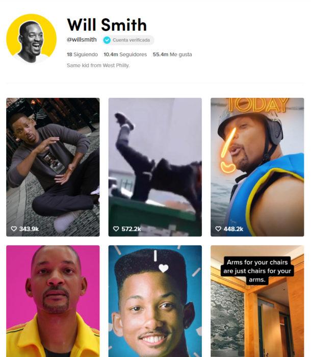 Pagina de tik tok de will smith