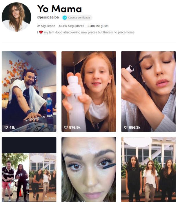 Pagina de tik tok de Jessica de Alba