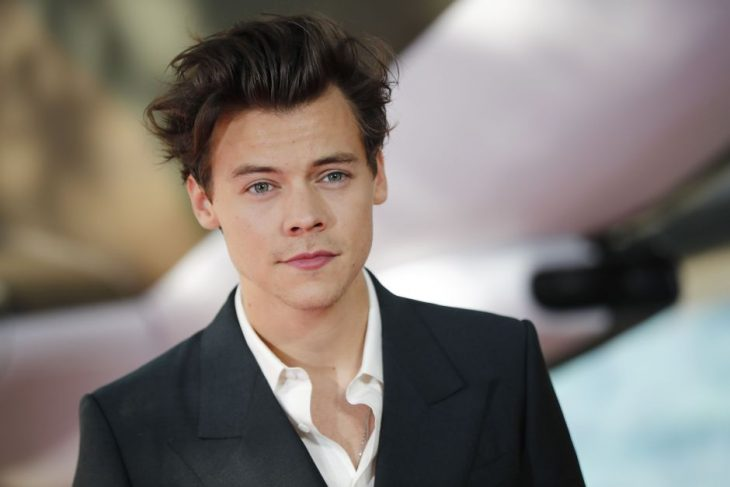 Harry Styles posando para una foto durante una alfombra roja